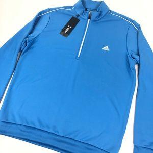 Adidas Mens Golf 3 Stripes 14 Zip Sweater NWT